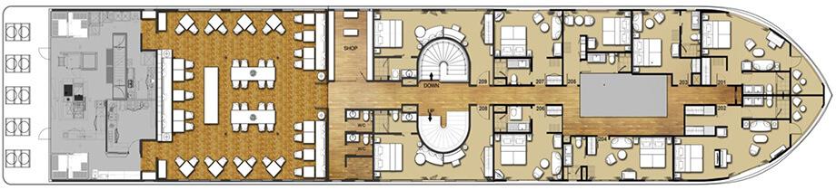 Upper deck plan